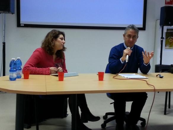 La coordinatrice Alessandra Mallamo e il direttore Giuseppe Cantarano (Unical)